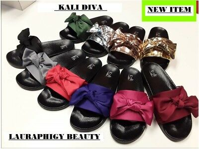 Bow Slippers Rihanna Fashion Slides style Women Summer Sandals kali-DIVA