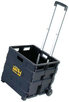 OLYMPIA 80 Lb Black Plastic Folding Hand Truck Cart TwoWheeled Collapsible