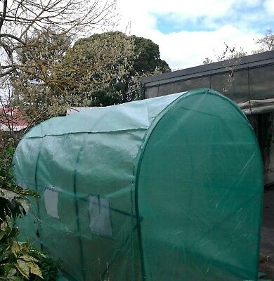 3.0M Large Durable Walk-In Greenhouse Garden Hot Plant Shed PE Cover Arch Roof