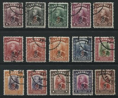 Sarawak 1947 Crown Colony set of 15 stamps to $5 SG150-164 Used - AT334