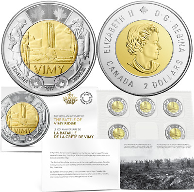 2017 100th Anniversary of the Battle of Vimy Ridge $2x5 Coin Pack