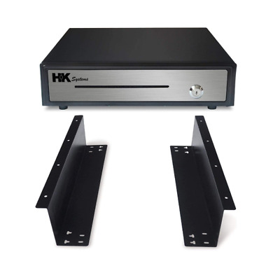 "16"" Black ""Push"" Open Cash Drawer, 5B5C ""with Under Counter Mounting Bracket"""