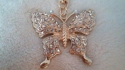 Butterfly Crystal Key Ring/Purse Charm