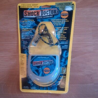 SHOCK DOCTOR Youth Strapped Mouthguard Item # 6001Y Age 10 and Younger - NEW