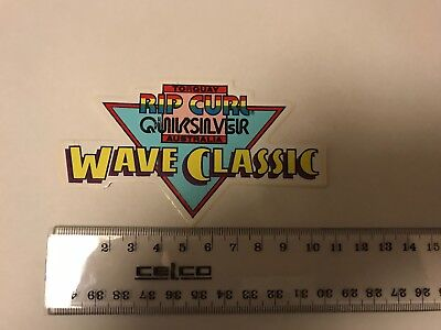 Genuine Rare Torquay Rip Curl Wave Classic  80,s Surf Sticker As Pictured.