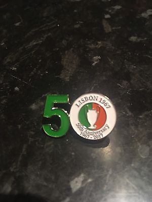 Lisbon Lions 50Th Anniversary Badge 1967-2017  New In