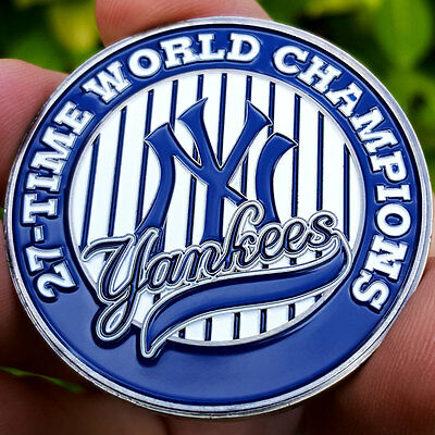MLB New York Yankees 27 Champions Poker Card Protector Collect Coin Golf Marker