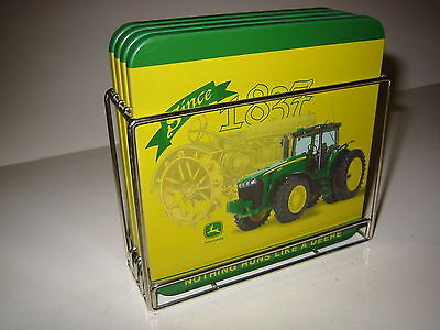 JOHN DEERE 4 PIECE COASTER SET Since 1837