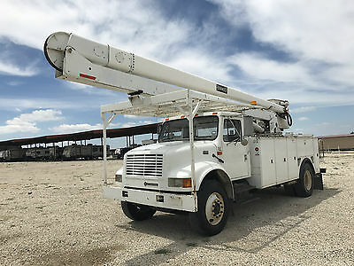2001 International 4700 60' Hi Ranger T444E Diesel Bucket Boom Truck Auto AC