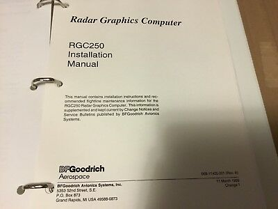 BFGoodrich aerospace  RGC 250 Radar Graphics Installation Manual