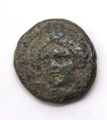 Ancient COIN of KARDIA, THRACE, AE, 350 BC!!! Masterful work on images!   0v16