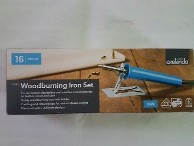 Woodburning Iron 16 Piece Set 30W