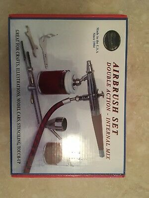 Paasche  Airbrush Set double action internal mix brand new sealed