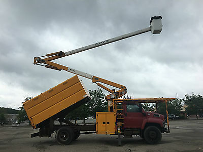 2004 GMC C7500 Hi Ranger 65' Forestry Chipper Bucket Boom Truck Diesel Cat C7