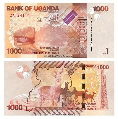 Uganda 1000 Shillings 2015 Replacement P-49cr Banknotes UNC