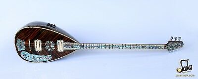 Special Long Neck Wenge Electric Electro Baglama Saz Ses-408G