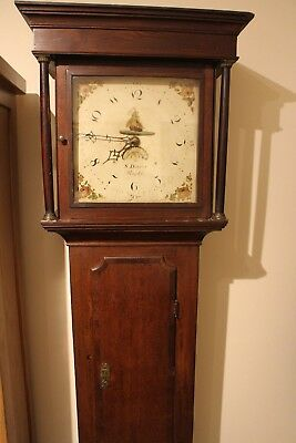 longcase clock 18th century 30hr Samuel Dalton 1786 1810 1795  oak case