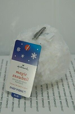 Magic Snowball Hallmark Throw It See It Glow New With Tags~Free Ship Us~
