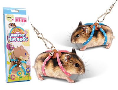 Popular Cute Leash for Hamster Rat Gerbil Pet Cage Playhouse Leashe Toy House UK