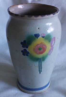 Honiton Studio  Pottery Vase Hand Thrown Hand Painted