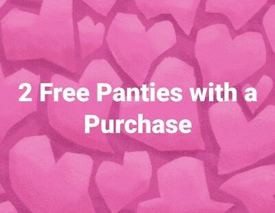Victoria's Secret GET 2 PANTIES with PURCHASE ~ DMPC1002 ~ ONLINE ONLY ~EXP 11/5
