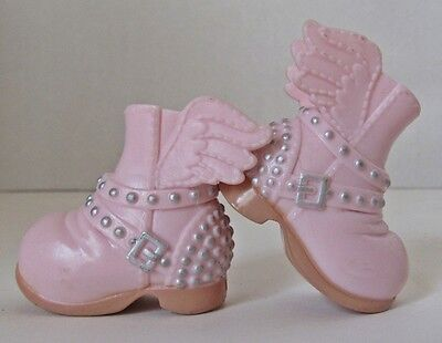 Pair of Pink Winged Boots From Bratz Selfie Snaps Cloe