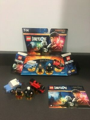 Lego Dimensions Harry Potter Lord Voldermort Team pack 71247 Complete With Box