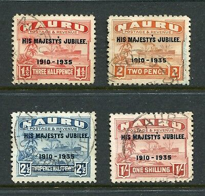 Nauru: 1935 George V Silver Jubilee Set of 4 Stamps SG40-43 Fine Used AW289