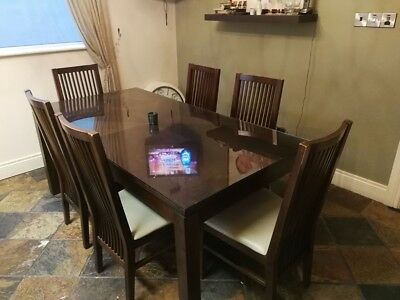 Kitchen dining table & 6 chairs