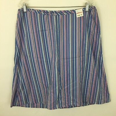 Old Navy Maternity size 12 skirt blue pink striped low rise no panel