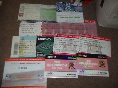 Barnsley Fc Ticket Collection Directors Box Guest Lounge Etc Various