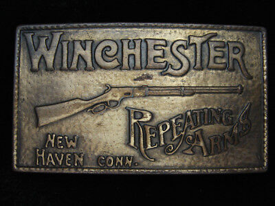 PL23119 VINTAGE 1970s **WINCHESTER REPEATING ARMS** GUN AND FIREARM BELT BUCKLE