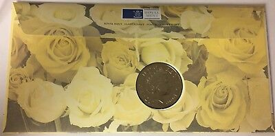 1999 - 5 Pounds Coin And Stamps Commemorating Princess Diana