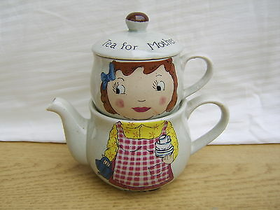 Tea for one  Stacking tea pot and cup  Tea for Mother