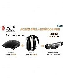 Russell Hobbs LOTEGRILL: 2 GRILL+2 HERVIDOR + MOLI LOTEGRILL