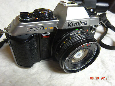 Konica FT-1 motor SLR with Hexanon 40mm f1.8 lens, ideal student camera