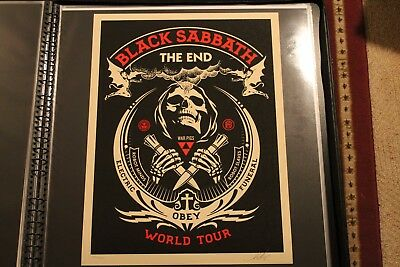 "OBEY BLACK SABBATH ""The End"" Fairey Tour Print Signed/Numbered Rare! NT Mondo"