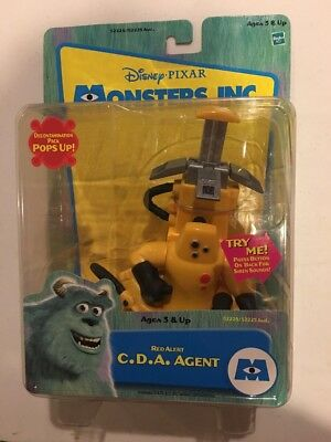 2001 Monsters Inc. Red Alert C.D.A. Agent Action Figure New Hasbro Toy