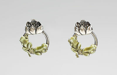 enamelled Frog earrings 9901263