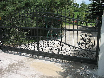 Wrought iron handmade sliding cantilever driveway gates **highest quality**