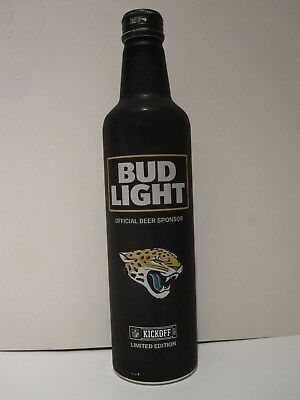 Bud Light NFL 2017 Jacksonville Jaguars Aluminum Beer Bottle Jags