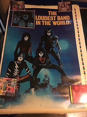 Rare!!  Kiss 1982 Printers Proof Creatures Of The Night Loudest Band Poster