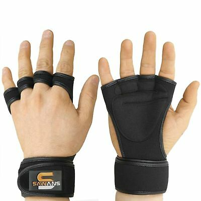 GYM WEIGHT LIFTING GLOVES FITNESS Neoprene Wrist Support Straps All Size