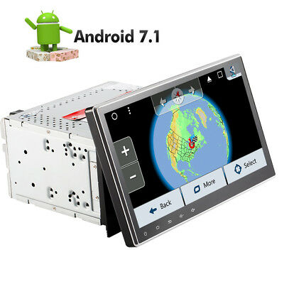 """10.1"""" Car Android 7.1 Stereo Radio Double 2DIN 4G WIFI GPS DVD Player Quad-Core"""