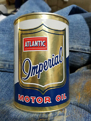 Atlantic Imperial Full 1 Quart Can of Motor Oil 5W-20 Can is Mint