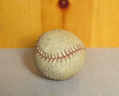 Vintage Antique White Leather Baseball Bounder Ball w/Red Stitching Memorabilia