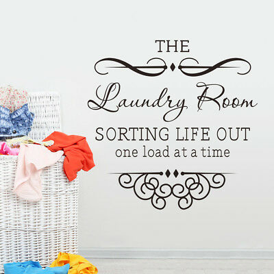 Laundry Room Cleaners Removable Art Words Wall Stickers Sticker Wall Decor Decal