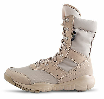 WWOODTOMLINSON Men Military Tactical Work Boots,Desert Leather Combat Army Boots