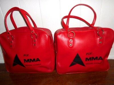 Vintage MMA Airline CARRY BAG Western Australia red Ansett excellent condition