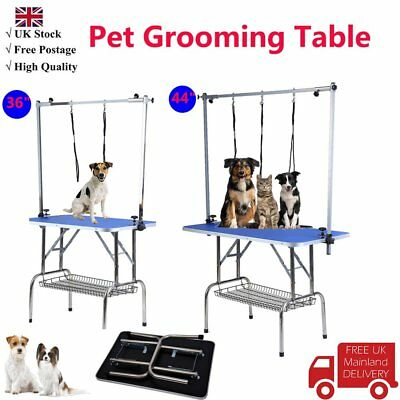 2 size Foldable Dog Pet Grooming Table Portable Adjustable Height Arm Non Slip